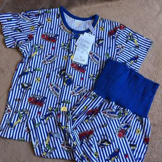シマムラ(しまむら)の【新品タグ付き】はたらく車 半袖 夏パジャマ 100(パジャマ)