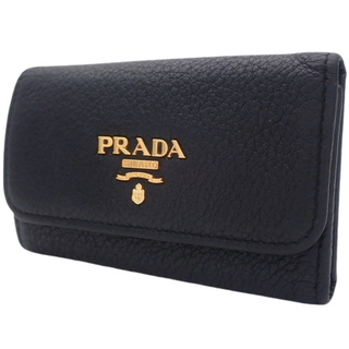 プラダ(PRADA)のプラダ 6連キーケース レザー  NERO ブラック黒 40800072303(キーケース)