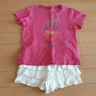 ビューティアンドユースユナイテッドアローズ(BEAUTY&YOUTH UNITED ARROWS)の女児 100cm前後 Tシャツ&短パンセット  ショートパンツ 半袖Tシャツ 女(Tシャツ/カットソー)