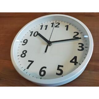 ニトリ(ニトリ)のニトリ 円形壁掛け時計 ステップ秒針 ホワイト(掛時計/柱時計)