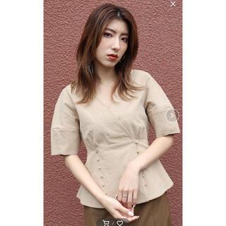 ムルーア(MURUA)のムルーア MURUA カシュクール リボン コルセット ペプラム(シャツ/ブラウス(半袖/袖なし))