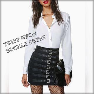 トリップニューヨークシティ(Tripp NYC)のTripp nyc バックルタイトスカート♡dolls kill(ミニスカート)