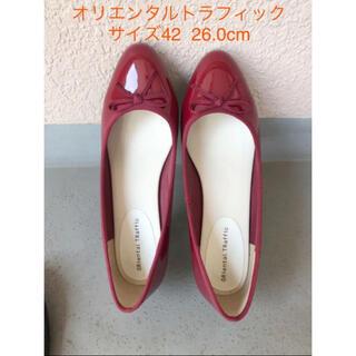 オリエンタルトラフィック(ORiental TRaffic)のORiental TRaffic レインパンプス 赤(レインブーツ/長靴)