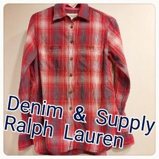 デニムアンドサプライラルフローレン(Denim & Supply Ralph Lauren)の美品!ラルフローレン チェックシャツ ネルシャツ(シャツ/ブラウス(長袖/七分))