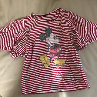 トゥービーシック(TO BE CHIC)のトゥービーシック 未使用ミッキーティシャツ ディズニー(Tシャツ(半袖/袖なし))