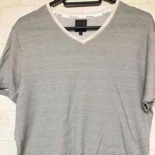 シーケーカルバンクライン(ck Calvin Klein)のカルバンクライン Calvin Klein VネックTシャツ チェック(Tシャツ/カットソー(半袖/袖なし))