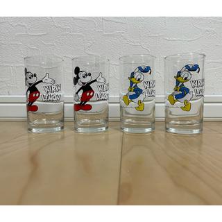 キリン(キリン)のキリンレモンのミッキー&ドナルドのペアグラスアンティーク 2個セット(グラス/カップ)