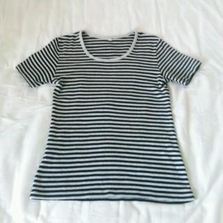 ムジルシリョウヒン(MUJI (無印良品))の【美品】無印良品 ボーダーTシャツMサイズ(Tシャツ(半袖/袖なし))