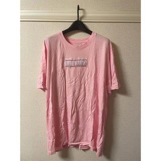 ユニフ(UNIF)のユニフ UNIF CLOTHING Tシャツ カットソー 半袖 丸首 ピンク L(Tシャツ/カットソー(半袖/袖なし))