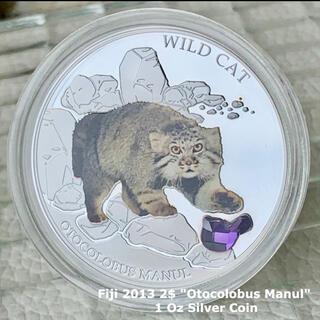 猫好き必見★2013年 フィジー 銀貨 BOX&証明書付属/ネコ コイン(貨幣)