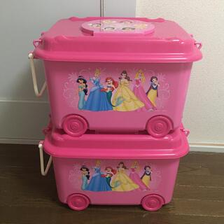 ディズニー(Disney)の新品 ディズニープリンセス おもちゃ箱 収納ケース 2個(ケース/ボックス)