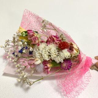 ドライフラワー ピンクスワッグ 86 春色 小花(ドライフラワー)