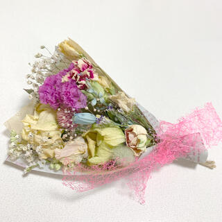 ドライフラワー 春色スワッグ 87 ブーケ 花束 インテリア (ドライフラワー)