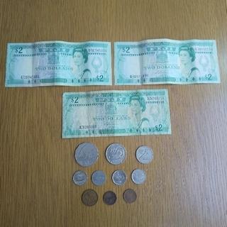 フィジー旧紙幣、硬貨セット(貨幣)