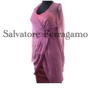サルヴァトーレフェラガモ(Salvatore Ferragamo)の⭐️Salvatore Ferragamo アンサンブル付きワンピース(ひざ丈ワンピース)