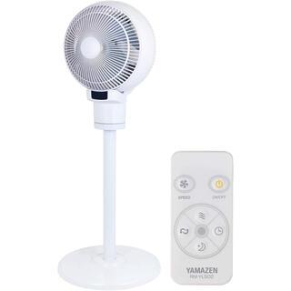 ヤマゼン(山善)の[山善] 扇風機 18cm サーキュレーター 扇風機 (上下左右自動首振り)(サーキュレーター)