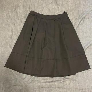 エンスウィート(ensuite)のensuite フレアスカート 黒(ひざ丈スカート)