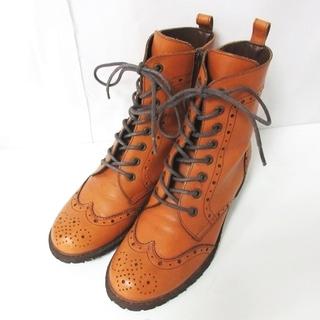 バークレー(BARCLAY)のバークレー カントリーブーツ ウイングチップ メダリオン 8ホール 24cm (ブーツ)