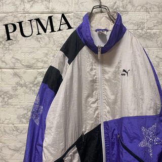 プーマ(PUMA)のプーマ ナイロンジャケット ワンポイント刺繍ロゴ 90's(ナイロンジャケット)