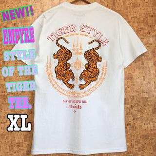 スラッシャー(THRASHER)の虎 ☆ 新品 EMPYRE TIGER Tシャツ 白 XL LL USストリート(Tシャツ/カットソー(半袖/袖なし))
