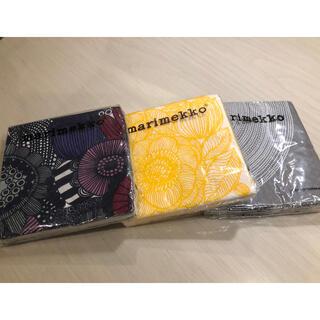 マリメッコ(marimekko)の新品 marimekko マリメッコ ペーパーナプキン ×3(テーブル用品)