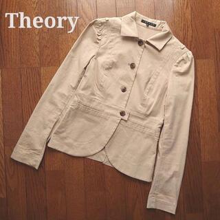 theory - theoryカジュアルジャケット ライトアウター2ベージュ長袖ブルゾン春秋冬