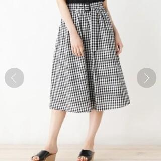 グローブ(grove)のgrove ギンガムチェック スカート(ひざ丈スカート)