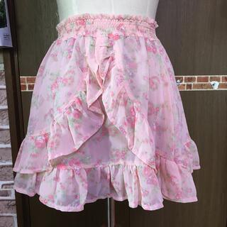 リズリサ(LIZ LISA)のLIZ LISA 新品花柄スカート  (ミニスカート)