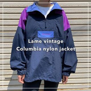 Columbia - 90s 古着 コロンビア プルオーバー ナイロンジャケット 切り替え 刺繍ロゴ