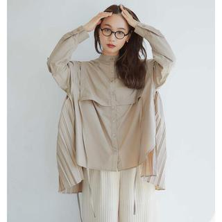7/4迄セール*RANDEBOO Pleats cape shirts (シャツ/ブラウス(長袖/七分))