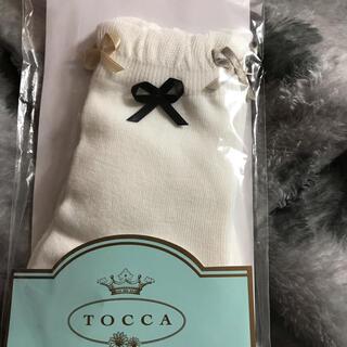 トッカ(TOCCA)のTOCCA 立体リボンのソックス 22-24cm(靴下/タイツ)