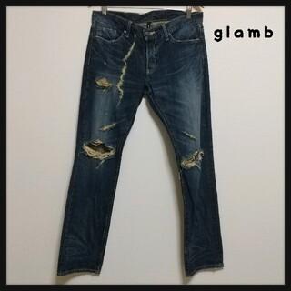 グラム(glamb)の【レア】glamb デニム パンツ ダメージ加工 クラッシュ  金子ノブアキ(デニム/ジーンズ)