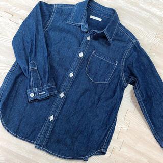 ジーユー(GU)のGU デニムシャツ 110(ジャケット/上着)