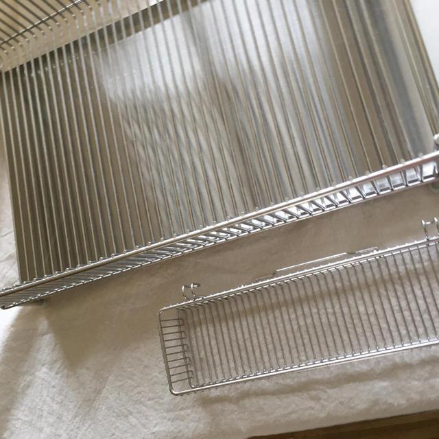 ラバーゼ 水切りかご大  横置タイプ  3点セット  インテリア/住まい/日用品のキッチン/食器(収納/キッチン雑貨)の商品写真