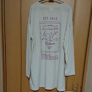 ウィルソン(wilson)のWilsonウィルソン 長袖プリントロングTシャツ(Tシャツ(長袖/七分))
