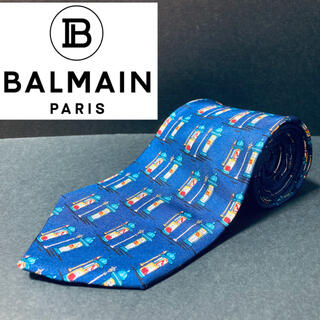 BALMAIN - 【美品】BALMAIN/バルマン ネクタイ ブルー