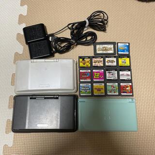 ニンテンドーDS(ニンテンドーDS)のDS初代2個とDSLite2個+充電器+ソフト(携帯用ゲーム機本体)