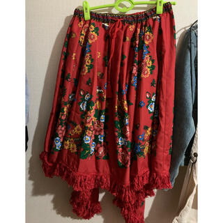 チチカカ(titicaca)のエスニックスカート(ひざ丈スカート)