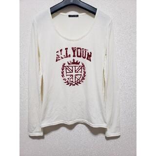 イング(INGNI)のロゴT ホワイト 白(Tシャツ(長袖/七分))