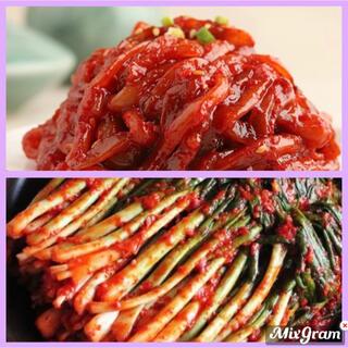 韓国 ネギキムチ&イカチャンジャ(漬物)