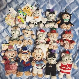 ディズニー(Disney)のダッフィー♡シェリーメイ♡ジェラトーニ ぬいぐるみバッジ ぬいば 14体セット(ぬいぐるみ/人形)