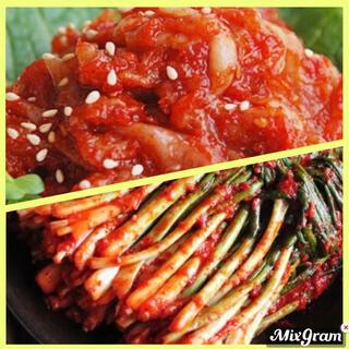 韓国 チャンジャ&ネギキムチ(漬物)
