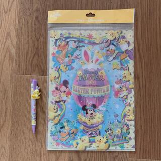 ディズニー(Disney)のDisney クリアファイル ボールペンセット(キャラクターグッズ)