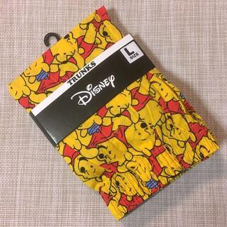ディズニー(Disney)のディズニー:くまのプーさん 総柄 前開き トランクス★イエロー L(トランクス)