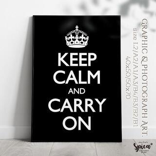 ☆インテリアアートポスター/A2/Keep Calm【125】(アート/写真)