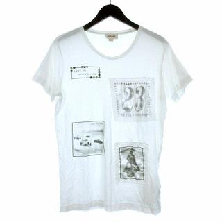 ディーゼル(DIESEL)のディーゼル DIESEL Tシャツ 半袖 プリント 装飾 S ホワイト(Tシャツ/カットソー(七分/長袖))