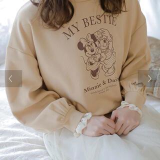ディズニー(Disney)の【再値下げ】ミニー&デイジー/袖口レースプルオーバー/ベージュ(Tシャツ(長袖/七分))