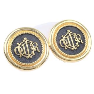 ディオール(Dior)のクリスチャンディオール ビンテージ 金メッキ ゴールド レディース(イヤリング)