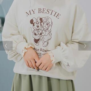 ディズニー(Disney)の【再値下げ】ミニー&デイジー/袖口レースプルオーバー/アイボリー(Tシャツ(長袖/七分))