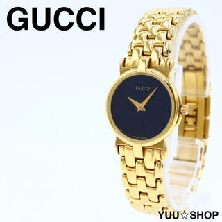 グッチ(Gucci)の電池新品【美品】グッチ 3400L ゴールド ブレス レディース 腕時計 付属品(腕時計)